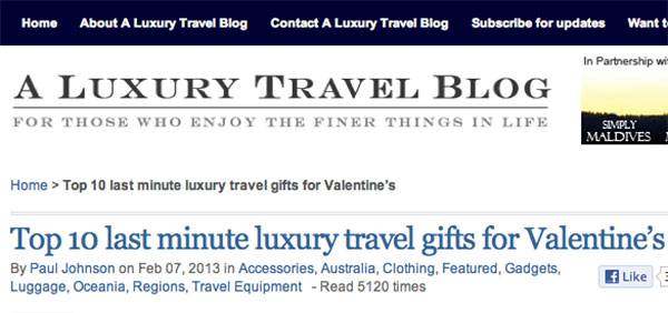 A Luxury Travel Blog Top 10 last minute luxury travel gifts for Valentine's