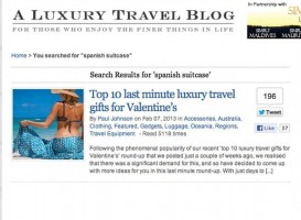 A Luxury Travel Blog - Top 10 last minute luxury travel gifts for Valentine's - Spanish Suitcase