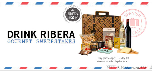Drink Ribera Gourmet Sweepstakes Featuring Spanish Suitcase